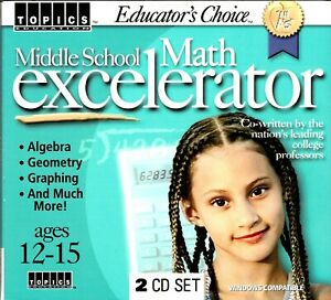 Middle School Math Excelerator Pc New Algebra Geometry by College Professors