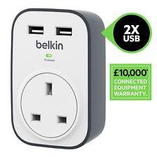 Belkin BSV103 SurgeCube 1 Way Surge Protector Plug 2 x 2.4 A USB Charging