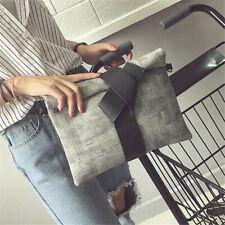 Women's Contrast Color Handbag Shoulder Messenger Satchel Shopping Clutch Bags H