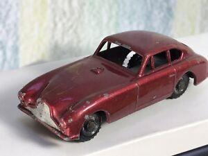 Matchbox Moko Lesney # 53a Aston Martin metallic red no box 4BPW silver grille