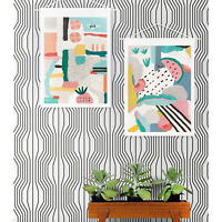 Geometric illusion pattern peel and stick Removable Wallpaper self adhesive