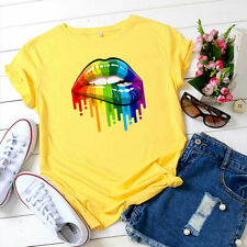 Plus Size Womens Summer Short Sleeve Tops T Shirt Ladies Casual Loose Tee Blouse