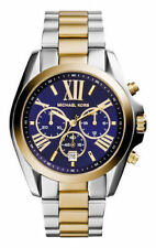 Michael Kors Bradshaw 43 mm Stainless Steel/Gold-Tone Unisex Wrist Watch with Blue Dial - (MK5976)
