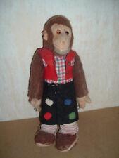 alter Affe Stofftier, Filz hart gestopft mit Holzwolle, Vorkrieg Steiff ???