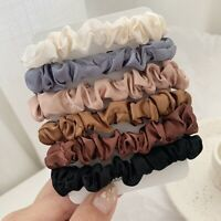 6PCS Women Hair Scrunchies Silk Satin Elastics Hair Ties Ponytail Holder Ropes