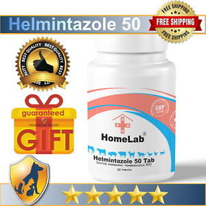 Helmintazole 50 Tab® Fenbendazol 50mg 30 Tablets De-wormer Panacur Safe Guard