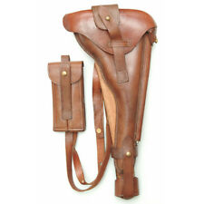 LUGER P08 ARTILLERY  WOOD SHOULDER  HOLSTER WITH LEATHER