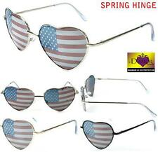 2 PAIR WOMENS HEART SHAPED AMERICAN FLAG SUNGLASSES new FASHION EYEWEAR glasses