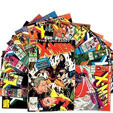 Uncanny X-Men 15 Comic Book Lot Marvel VF Copper Age Psylocke Mister Sinister