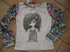 (229) Nolita Pocket Girls Shirt mit Logo Mädchen Druck und Blumen Ärmeln gr.140