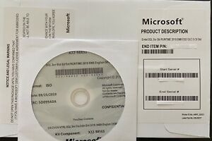 Microsoft SQL Server 2019 Standard 16 Core License DVD&COA