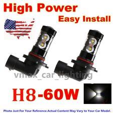 US 2Pcs LED 60W Super White High Power Fog Light Fit 09-16 Hyundai Genesis Sedan
