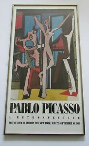 VTG Pablo Picasso Poster The Dancer MOMA Museum of Modern Art NY 1980