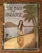 Antique 1912~Native Hawaiian Song from The Bird Of Paradise~Sheet Music~Farewell