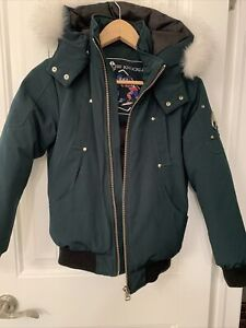 Moose Knuckles Youth Bomber Jacker With White Fur