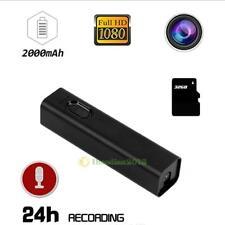 Mini 1080P HD Outdoor Hidden Spy Camera Video Recorder Cam + 2000mAh Power Bank