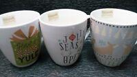 Pfaltzgraff Everyday Christmas Holiday Mugs three Styles coffee tea -only one