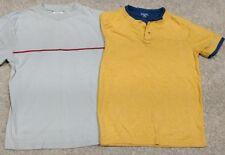 Lot (2) Falls Creek Boys LS/SS Casual/Henley Shirts-Yellow/Blue/Gray-Small 5/6/7