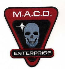 "Star Trek Enterprise MACO Skull 3.75"" Uniform Patch- FREE S&H (STPAT-ENT5)"
