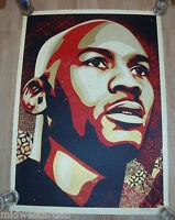 Shepard Fairey Large Format Michael Jordan Art Print S# 123 COA Obey Basketball
