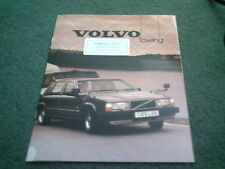 1985 1986 VOLVO 340 360 240 740 760 TOWING GUIDE UK 10 page COLOUR BROCHURE