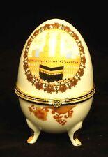 Islamic Muslim white ceramic egg /Al Kaaba / Gift, favor / Home decorative