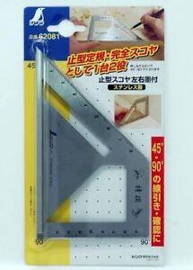 SHINWA Miter Square Metric Stainless Steel Standard Model 45 ° 90 ° Carpenter