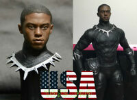 1/6 Scale Black Panther T'Challa Head Sculpt For Hot Toys BP Figure ❶USA❶