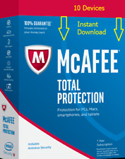McAfee Total Protection 2018 10 Devices Instant Delivery New+Existing Customers