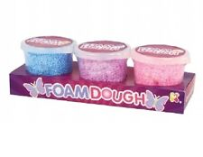 FOAM DOUGH PACK OF 3 TUBS - NV264 CHILDRENS MESSY PLAY FUN PUTTY GOO COLOURFUL