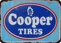 "Cooper Tires Vintage Rustic Retro Metal Sign 8"" x 12"""