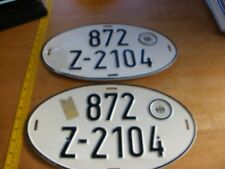 1970s Hauptzollamt Stuttgart-West German license plates matching pair