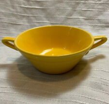 HARLEQUIN ~ Homer Laughlin ~ YELLOW Double Handled CREAM SOUP BOWL
