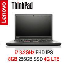 ThinkPad T450s i7 3.2GHz FHD IPS 8GB 256GB B/L 4G LTE W10P 2Y OS Warranty T470s