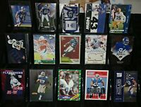Giants card lot RC jersey serial #d Jeremy Shockey Hakeem Nicks Amani Toomer HOF