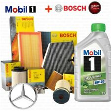 Kit tagliando Mercedes Classe a 180 cdi 200 160 W169 bosch 6lt olio Mobil 1 5w30