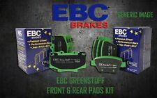 EBC GREENSTUFF FRONT + REAR BRAKE PADS KIT SET PERFORMANCE PADS PADKIT1089