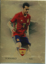 FUTERA 2016 PEDRO SPAIN 10/11 GOLD PARALLEL FOOTBALL CARD