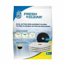 Catit Fresh N Clear Drinking Fountain 2l Replacement Foam Carbon Filters Cat Dog