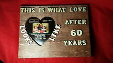 """8.5"""" X 6,5"""" Personalized Wooden Gift for Dad/Mom Anniversary frame Gift"""