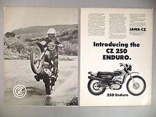 Jawa CZ 250 Motorcycle 2-Page PRINT AD - 1973
