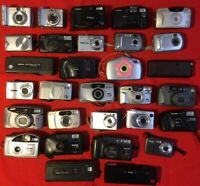 30 Vintage 35mm Cameras Assorted Brands Clean/Working Used