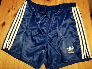 ADIDAS Vintage Fußball Shorts, Sprinter, Turnhose , Glanz , Nylon , Größe D7