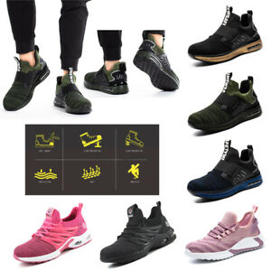 Mens Womens Lightweight Safety Shoes Steel Toe Cap Work Trainers Hiking Boot UK