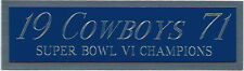 1971 DALLAS COWBOYS CHAMPIONS NAMEPLATE FOR Signed HELMET-FOOTBALL-JERSEY-PHOTO