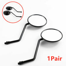 Motorcycle Pair  Round  Black  Mirrors 10mm Thread Rear Side View  Mirror