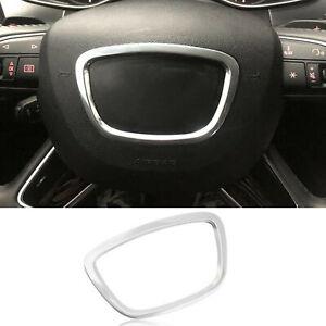 For Audi Q7 A8 Q5 13-17 Alloy Car Steering Wheel Center Frame trim Cover