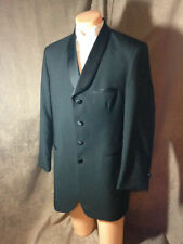 Made in the USA Black 4 Button Curved Lapel Mens After Six Formal Tuxedo Jacket