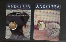 "2X2€ Andorra 2016(2€ ""25º Aniv RadioTelevision""+2€""150º Reform 1886"")"