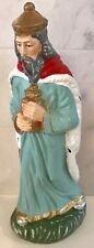 "VINTAGE PAPER MACHE NATIVITY FIGURE 7"" TALL MAGI KING MADE IN JAPAN"